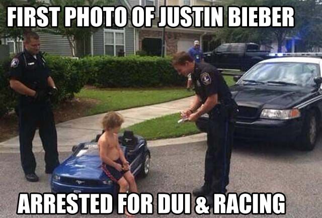Another example of the use of humor as a method of dealing with the male pop star's recklessness. This way of reacting to the controversy surrounding his arrest illustrates how the digital age both enables and encourages the spread of public opinion and creative reactions.
