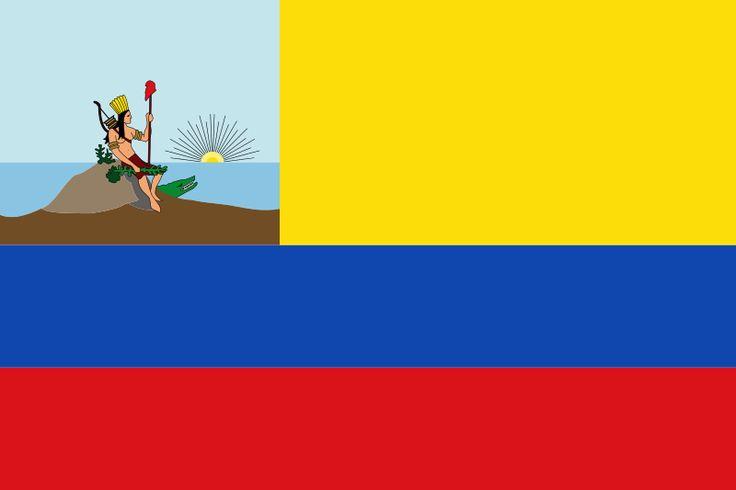 From Wikiwand:  Bandera de las Provincias Unidas de Venezuela (1811), de la cual la Gran Colombia tomó sus insignias.[3]