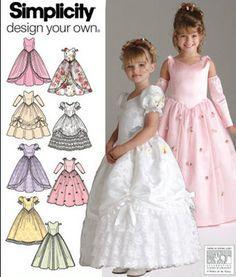 Bridal Wedding Flower Girl Easter Dress Sewing Pattern Simplicity 4764 3 4 5 6 | eBay