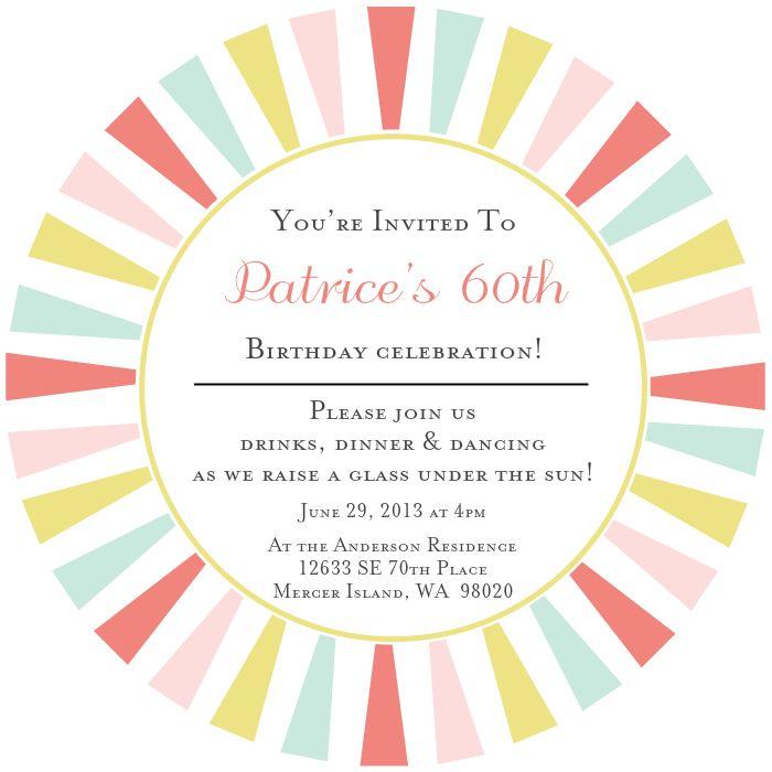 35 best Invitations | Birthday images on Pinterest | Invitation ...