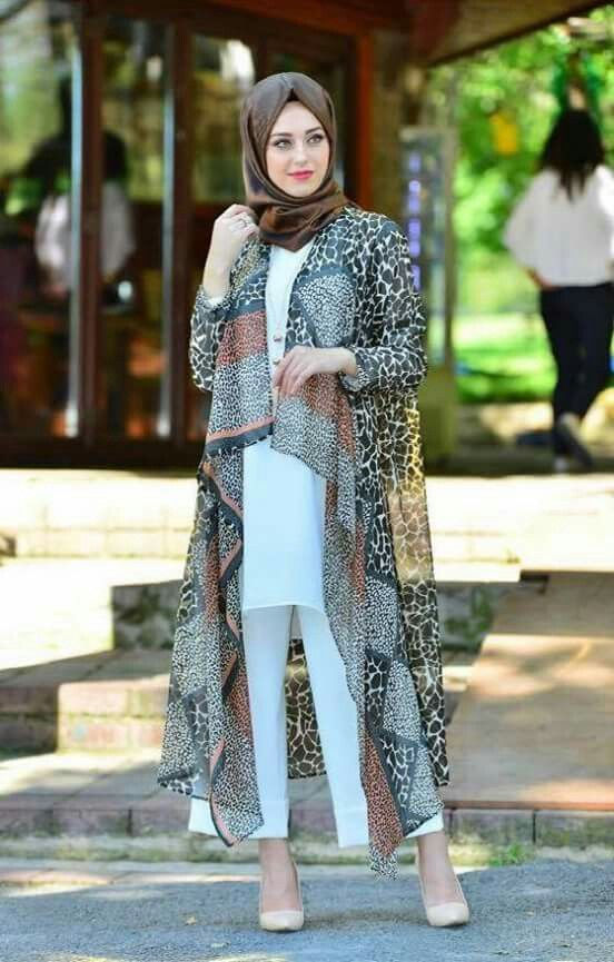 Neueste Inspirationen für das Sommer-Kimono-Hijab-Outfit – Girls Hijab Style & Hijab Fas …