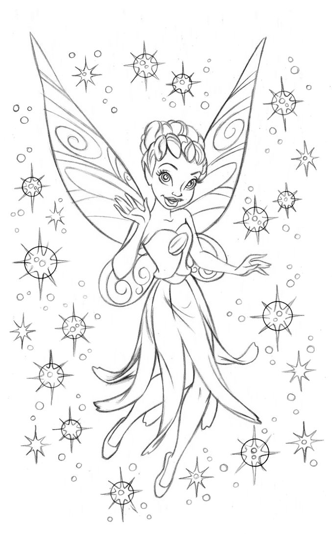 Fairies Coloring Book 39 Iridessa 39 CleanUpPencil by
