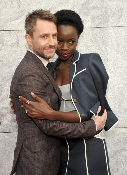 "Host Chris Hardwick and Actress Danai Gurira attend AMC presents ""Talking Dead Live"" for the premiere of ""The Walking Dead"" at Hollywood Forever on October 23, 2016 in Hollywood, California."