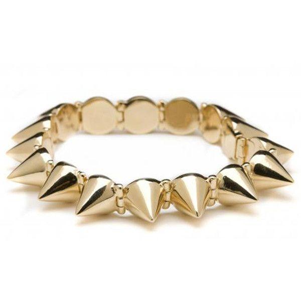 Cc Skye Mercy Spike Bracelet In Gold ($185) ❤ liked on Polyvore