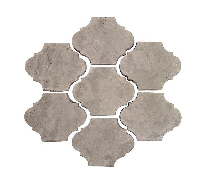 3x4 Mini San Felipe Natural Gray Limestone Cement Tile Rustic Tile Arabesque