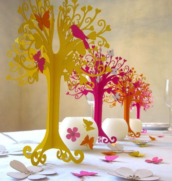 Hochzeitsdekoration herziger Baum Blumenwiese von KölnSchätze® auf DaWanda.com