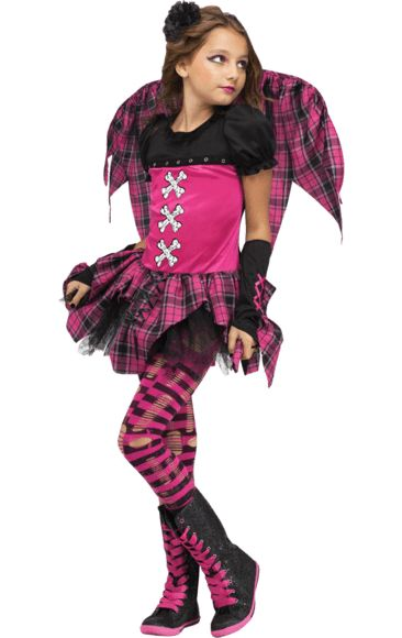 child pink punk fairy costume fairy costumeshalloween costumesmasquerades jokerspunkfairies - Masquerade Costumes Halloween