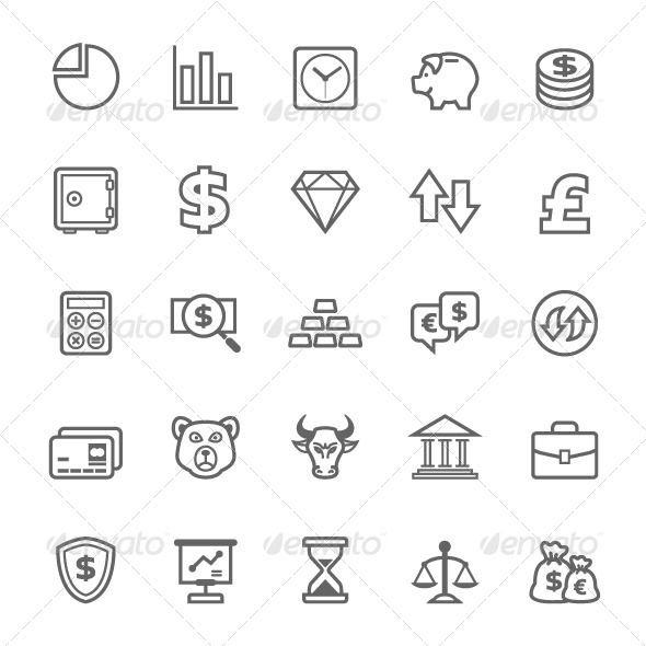 25 Outline Stroke Finance&Stock Icons — Photoshop PSD #finance #stock • Available here → https://graphicriver.net/item/25-outline-stroke-financestock-icons/7905022?ref=pxcr