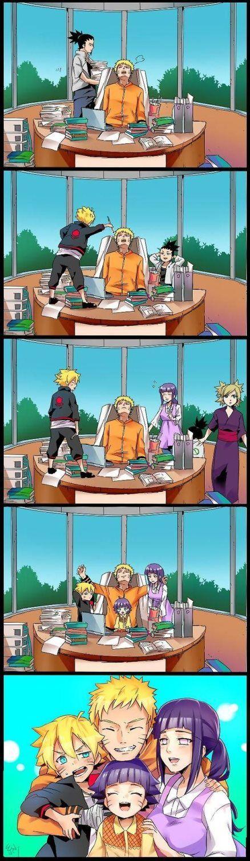 NARUTO SHIPPUDEN, Hokage 7th, Uzumaki Naruto, Family, Nara Shikamaru, Boruto, Shikadai, Temari, Hinata, Himawari