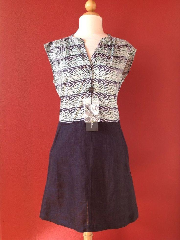 NWT! Weekend MaxMara Midnight Blue Dress Size US 8 IT 42 NEW $335 *minor Repair #MaxMara #Tunic #Casual