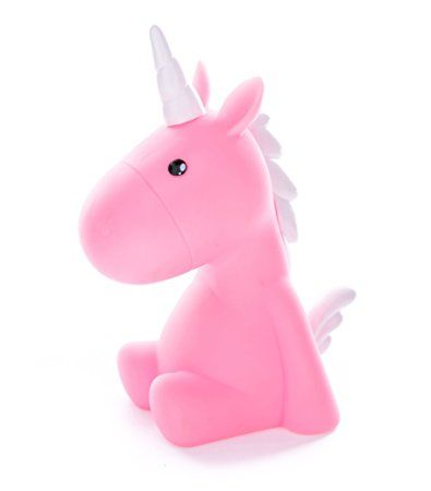Unicorn Night light with Multicolor LED, Children Night lamp, Baby Nursery Lamp Bedroom light.(Pink/White) http://amzn.to/2xwP3je