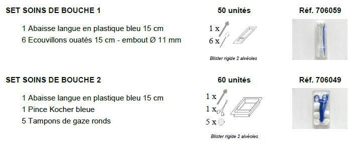 Sets spécifiques soins de bouche, sondage urinaire, suture - Lille, Paris, Toulouse, Lyon, Marseille | Sterima