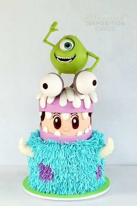 Monster Inc themed cake - For all your cake decorating supplies, please visit craftcompany.co.uk