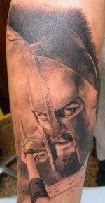 Tatuaje de un espartano