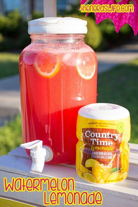 Yummy Watermelon Lemonade Recipe -- just three ingredients for delicious summer flavor! #Shop
