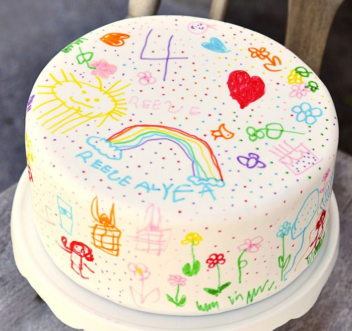 fondant with edible marker