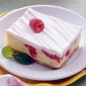 Frozen Lemon Raspberry Dessert