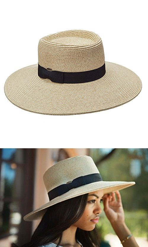 Scala collezione huge 4 inch brim upf50+ paper braid sun hat (lp237 ... 9e622a17a80