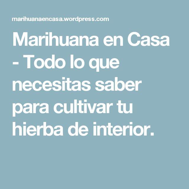 Marihuana en Casa - Todo lo que necesitas saber  para cultivar tu hierba de interior.
