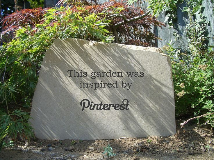 Well... isn't yours? Stone garden sign