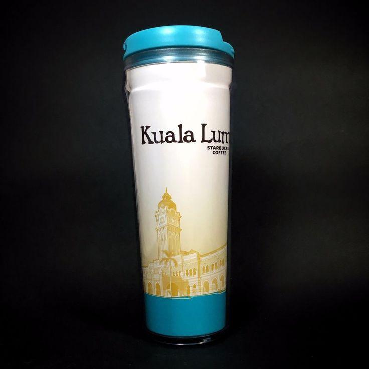 STARBUCKS MALAYSIA KUALA LUMPUR CLOBAL ICON TRAVEL TUMBLER 12oz w/ SKU COLLECTOR #StarbucksCoffeeCompany