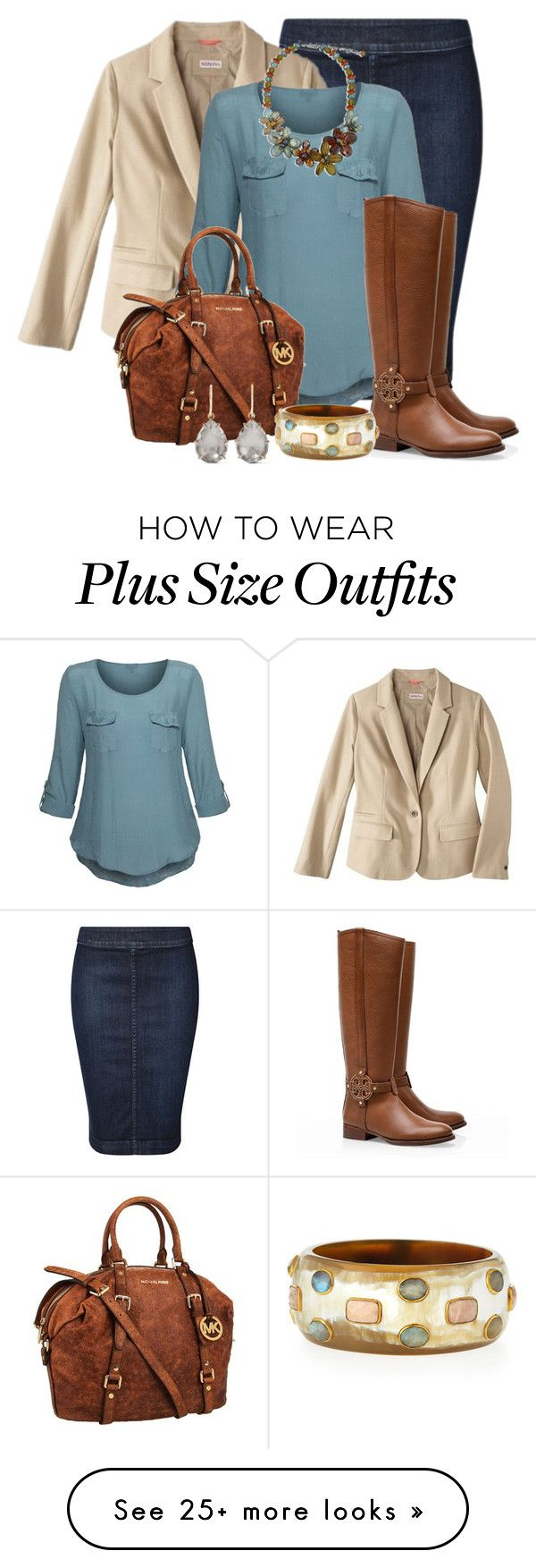 """Fall Outfit -- #Plus Size"" by kimberlyn303 on Polyvore featuring Dex, Merona, Tory Burch, MICHAEL Michael Kors, Ashley Pittman and Larkspur & Hawk"