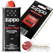 Bencina Zippo 125 Ml + Mecha De Rep Y Piedras X6 U. Zippo