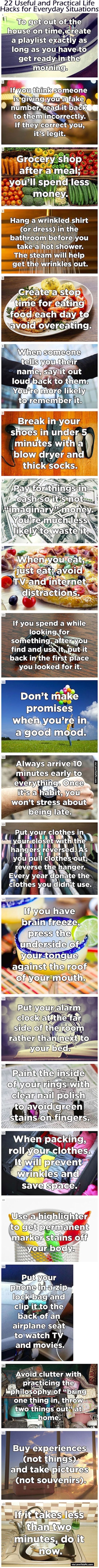22 Useful and Practical Life Hacks for Everyday Situations diy diy ideas easy diy interesting tips life hacks life hack good to know fact. facts: