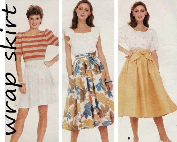 Wrap Skirt Pattern Butterick 4286 sz 12-16 by UnderCutPatterns