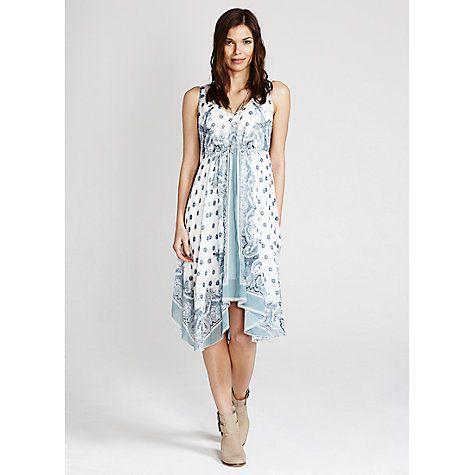 Buy Mint Velvet Avril Print Hanky Dress, Multi Online at johnlewis.com