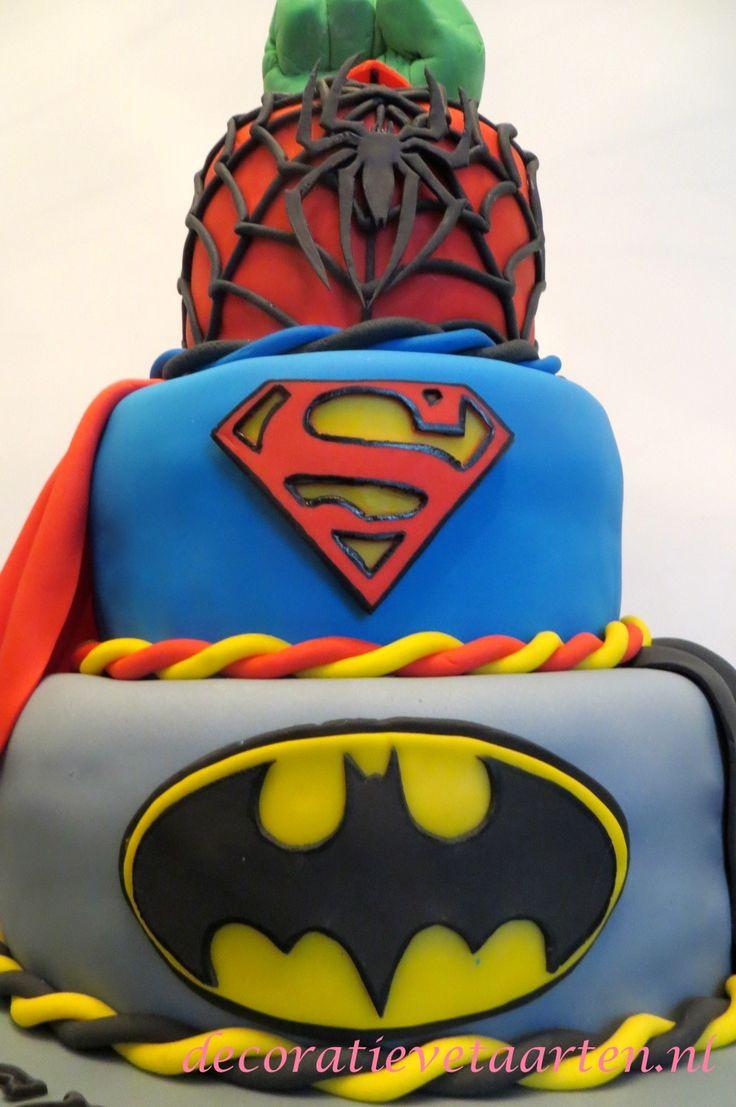 Taart 'Superhelden' - detail 1