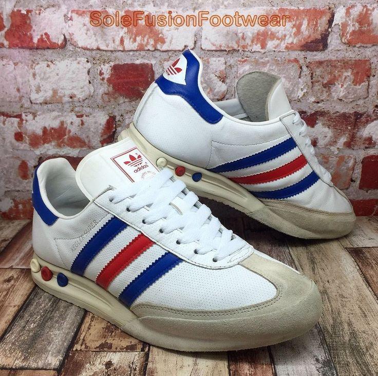adidas Mens KEGLER SUPER Trainers White/Blue size 8 Rare Sneakers US 8.5 EU 42  | eBay