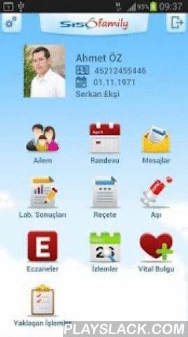 SisoFamily  Android App - playslack.com , Sisoft Sağlık Bilgi Sistemleri nin Sisomobile ürünleri aile hekimleri ve bireylerin mobil teknoloji aracılığı ile hasta bilgilerinin yönetimini sağlar.Aile hekimleri ve bireyler şimdi istedikleri anda ve istedikleri yerden hasta bilgilerine ulaşabilmektedirler. Kulanıcıların SisoFamily Birey uygulmasını kullanarak kendilerinin ve birinci derece yakınları için; -Randevu alabilerler, kendilerinin ve yakınlarının randevularını görüntüleyebilirler ayrıca…