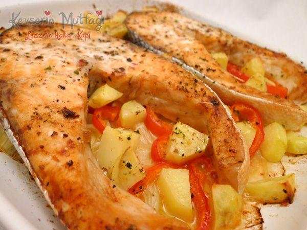 Fırında Sebzeli Somon Tarifi - Kevser'in Mutfağı - Yemek Tarifleri