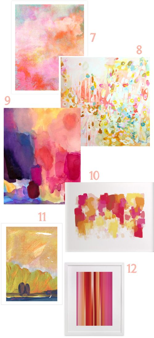 Lots of great choices for Large Pink Abstract Art on a budget