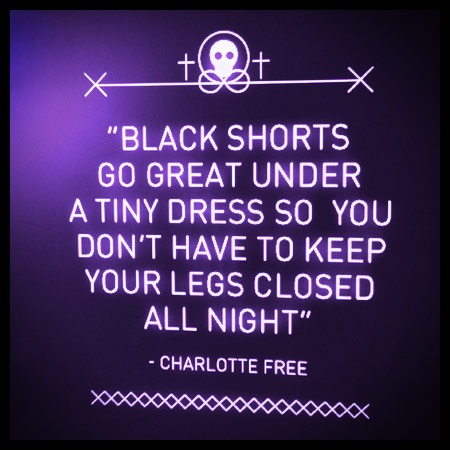Shorts under a micro mini. Adidas sneakers to bust any dance move. Charlotte Free's secrets to having the #BestNightEver are out. Come on, spill yours...