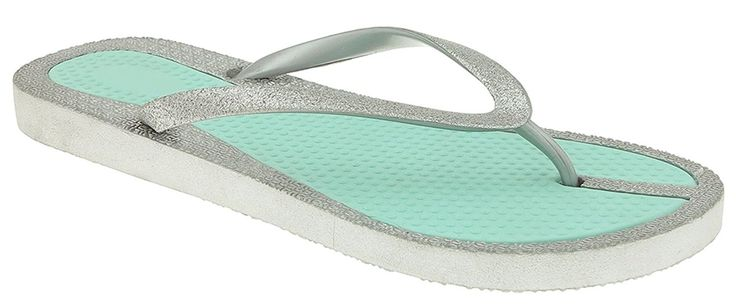 Capelli New York Fine Glitter Faux Leather Ladies Flip Flops >>> Check out this great image  : Jelly Sandals