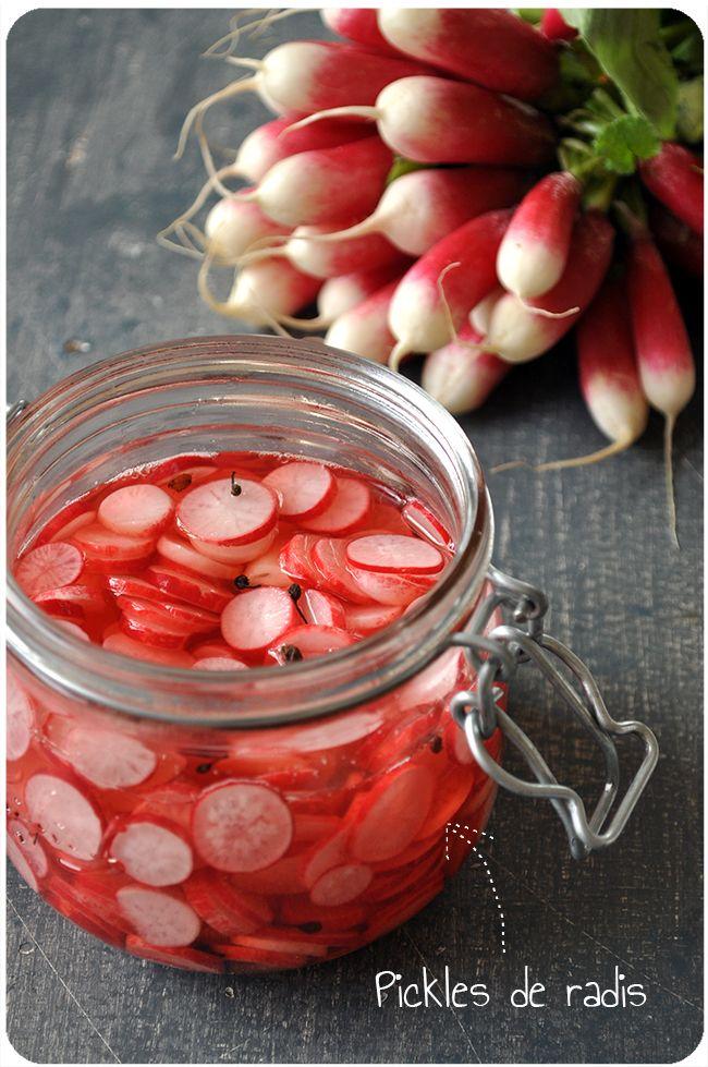 pickles de radis pour p'tite tartine improvisée aux saveurs printanières, pleine de goûts et de couleurs!
