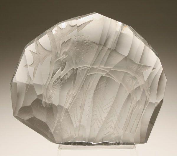 Finnish art glass sculpture by Tapio Wirkkala;