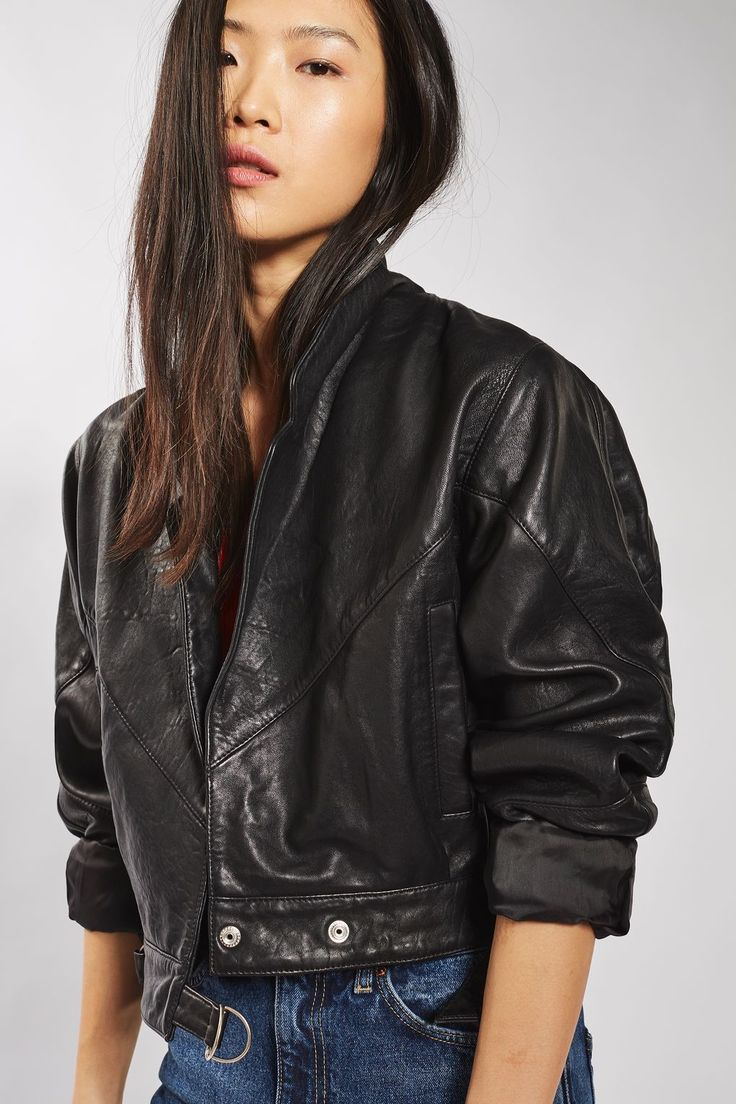 Cropped Leather Jacket - New In- Topshop Europe