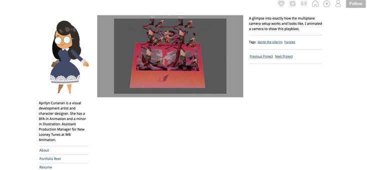 a screen grab of a video Aprilyn Cunanan provided showing a bit about her animation process!
