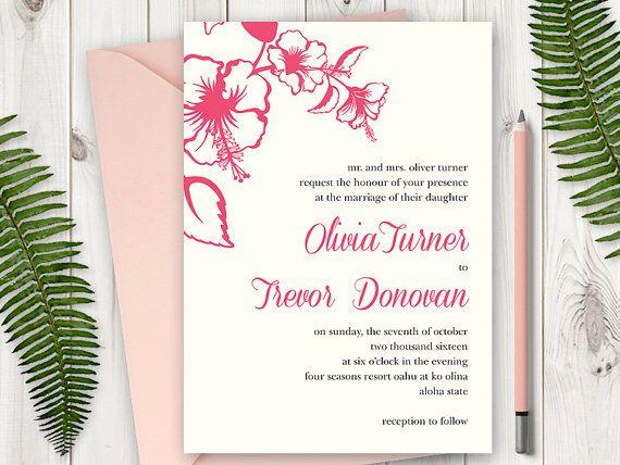 25 best destination wedding invitation templates  u0026quot hawaii
