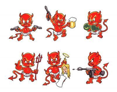 Little Devil Tattoo Designs