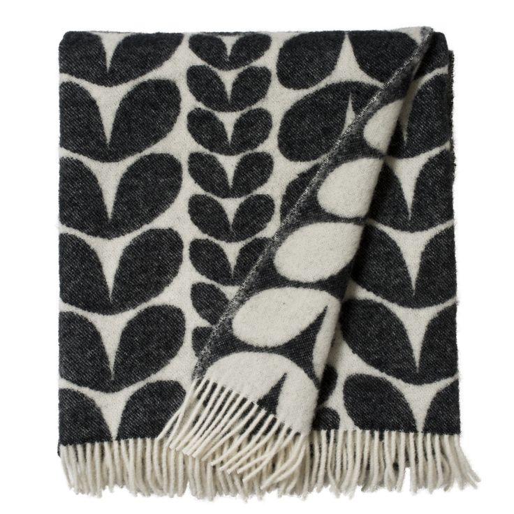 Hard To Find Monochrome Style. hardtofind. | Brita Sweden Karin Blanket - perfect to snuggle under on these cold nights.