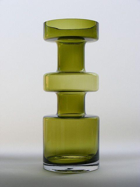 VINTAGE RIIHIMAKI HOOPED VASE BY TAMARA ALADIN 1960s SCANDINAVIAN GLASS, via Flickr