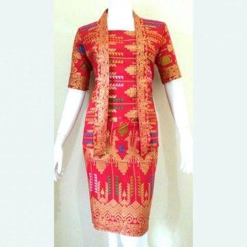 Model batik terbaru Rok dan blus cantik temang ngantor