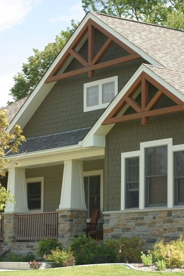 Home exteriors from custom home builder maple grove for Craftsman style homes exterior photos