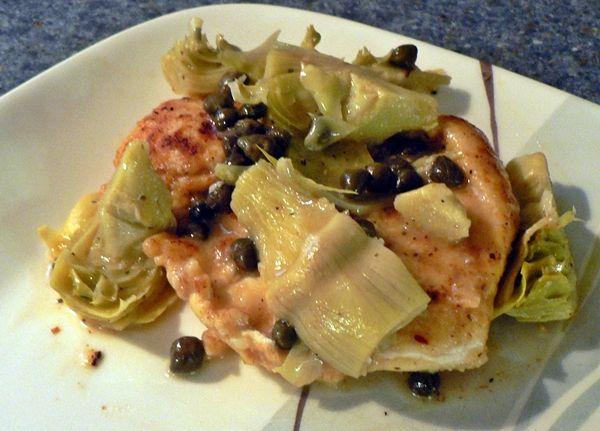 Chicken Piccata with Artichokes recipe   Nomnomnoms   Pinterest