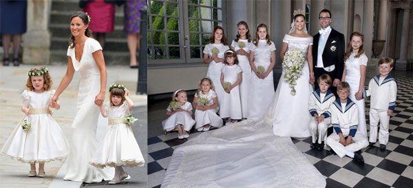 BAMBINI E CERIMONIE. Matrimoni Reali: copia il look delle damigelle w/ @Sposamania Notizie