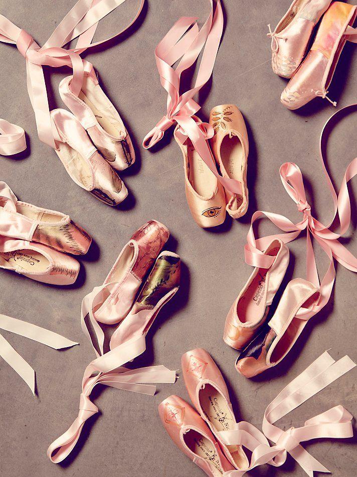 Free People Vintage Painted Ballet Slippers
